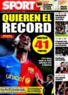 Portada diario Sport del 21 de Diciembre de 2008