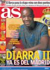 Portada diario AS del 22 de Diciembre de 2008
