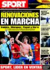 Portada diario Sport del 24 de Diciembre de 2008