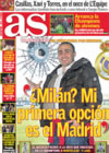 Portada diario AS del 27 de Diciembre de 2008