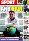 Portada diario Sport del 28 de Diciembre de 2008