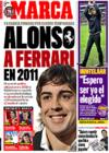 Portada diario Marca del 29 de Diciembre de 2008