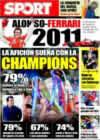 Portada diario Sport del 29 de Diciembre de 2008