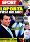 Portada diario Sport del 30 de Diciembre de 2008