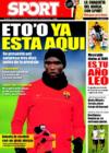 Portada diario Sport del 31 de Diciembre de 2008