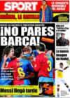 Portada diario Sport del 3 de Enero de 2009
