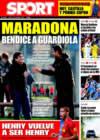 Portada diario Sport del 5 de Enero de 2009