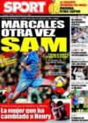 Portada diario Sport del 11 de Enero de 2009