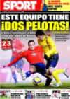 Portada diario Sport del 12 de Enero de 2009