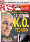 Portada diario AS del 16 de Enero de 2009