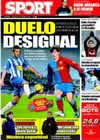 Portada diario Sport del 21 de Enero de 2009