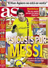 Portada diario AS del 24 de Enero de 2009