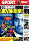 Portada diario Sport del 24 de Enero de 2009