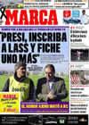 Portada diario Marca del 25 de Enero de 2009