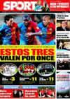 Portada diario Sport del 27 de Enero de 2009