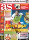 Portada diario AS del 29 de Enero de 2009