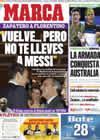 Portada diario Marca del 29 de Enero de 2009