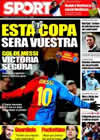 Portada diario Sport del 29 de Enero de 2009