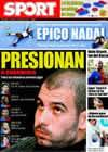 Portada diario Sport del 31 de Enero de 2009
