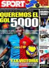 Portada diario Sport del 1 de Febrero de 2009