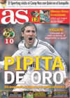Portada diario AS del 8 de Febrero de 2009