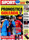 Portada diario Sport del 8 de Febrero de 2009