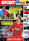 Portada diario Sport del 10 de Febrero de 2009