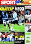 Portada diario Sport del 12 de Febrero de 2009