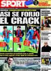 Portada diario Sport del 13 de Febrero de 2009