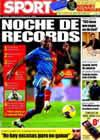 Portada diario Sport del 14 de Febrero de 2009