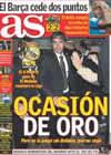 Portada diario AS del 15 de Febrero de 2009
