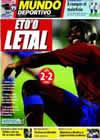 Portada Mundo Deportivo del 15 de Febrero de 2009