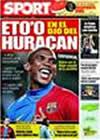 Portada diario Sport del 19 de Febrero de 2009