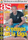 Portada diario AS del 20 de Febrero de 2009