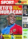 Portada diario Sport del 20 de Febrero de 2009