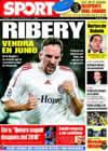 Portada diario Sport del 27 de Febrero de 2009