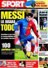 Portada diario Sport del 28 de Febrero de 2009