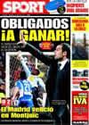 Portada diario Sport del 1 de Marzo de 2009