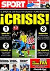 Portada diario Sport del 2 de Marzo de 2009