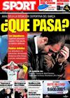 Portada diario Sport del 3 de Marzo de 2009