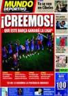 Portada Mundo Deportivo del 3 de Marzo de 2009