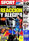 Portada diario Sport del 4 de Marzo de 2009