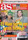 Portada diario AS del 5 de Marzo de 2009