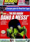 Portada Mundo Deportivo del 7 de Marzo de 2009