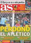 Portada diario AS del 8 de Marzo de 2009
