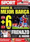 Portada diario Sport del 8 de Marzo de 2009