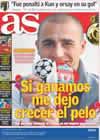 Portada diario AS del 9 de Marzo de 2009