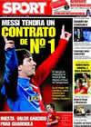 Portada diario Sport del 9 de Marzo de 2009