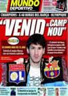 Portada Mundo Deportivo del 9 de Marzo de 2009