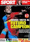 Portada diario Sport del 12 de Marzo de 2009